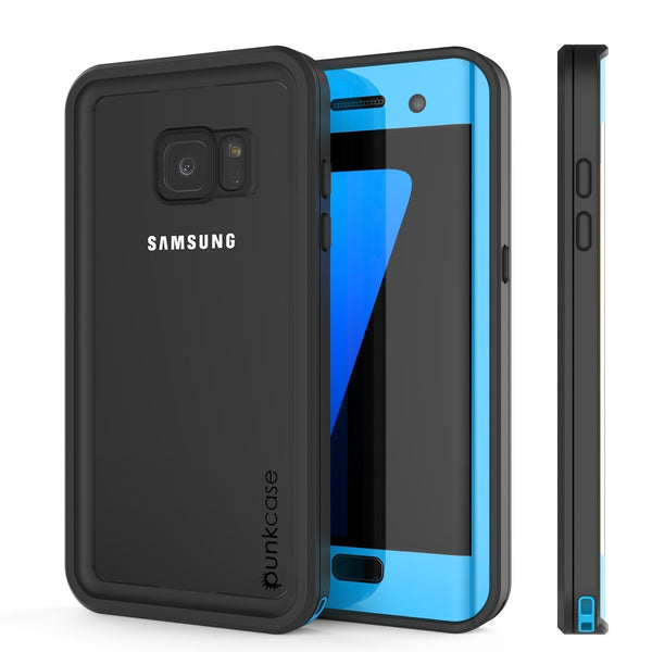 Galaxy S7 Edge Case, Punkcase Waterproof [Extreme Series] [Slim Fit] [IP68 Certified] [Shockproof] [Snowproof] [Dirproof] Armor Cover [LIGHT BLUE]
