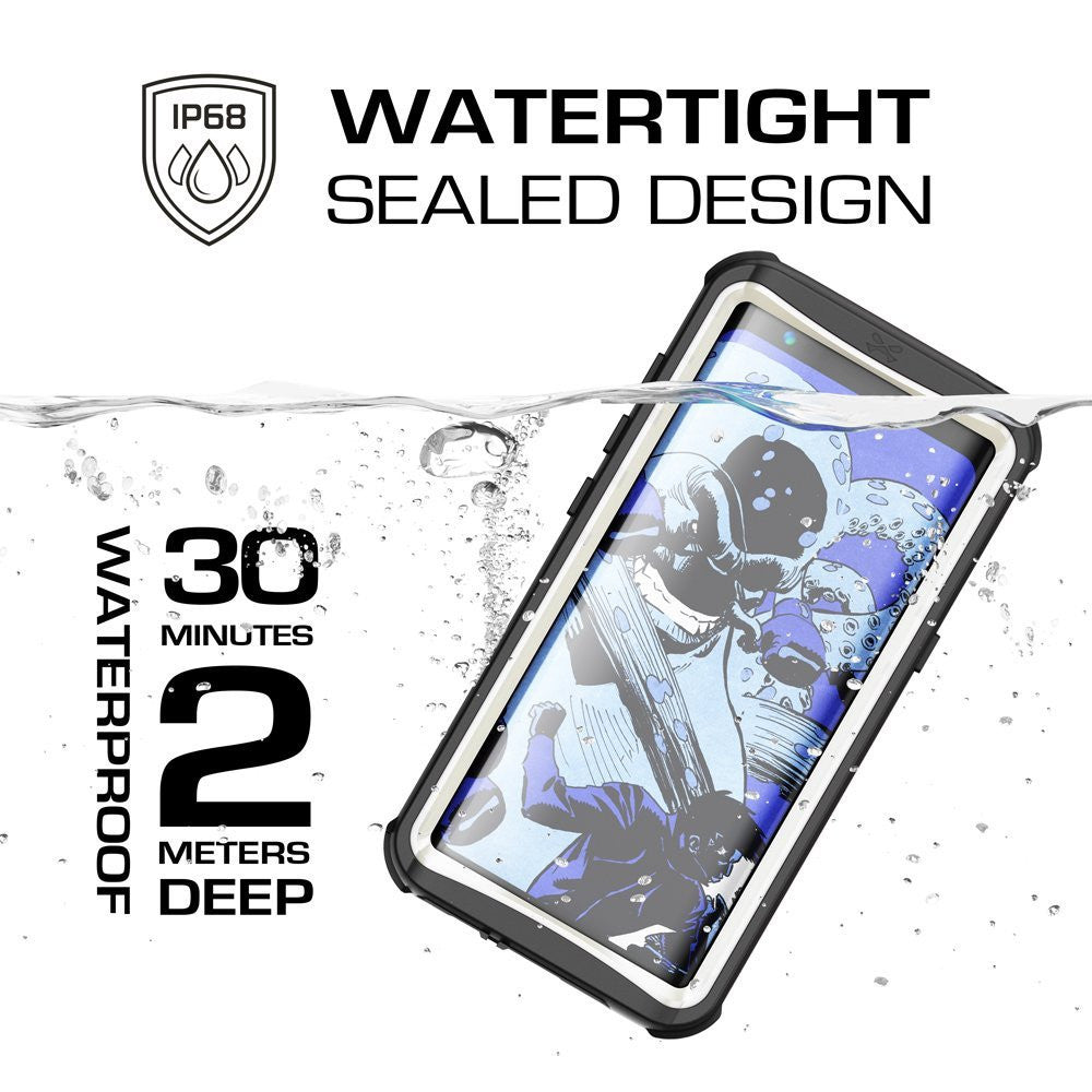 Galaxy S8 Waterproof Case, Ghostek Nautical Series (White) | Slim Underwater Full Body Protection