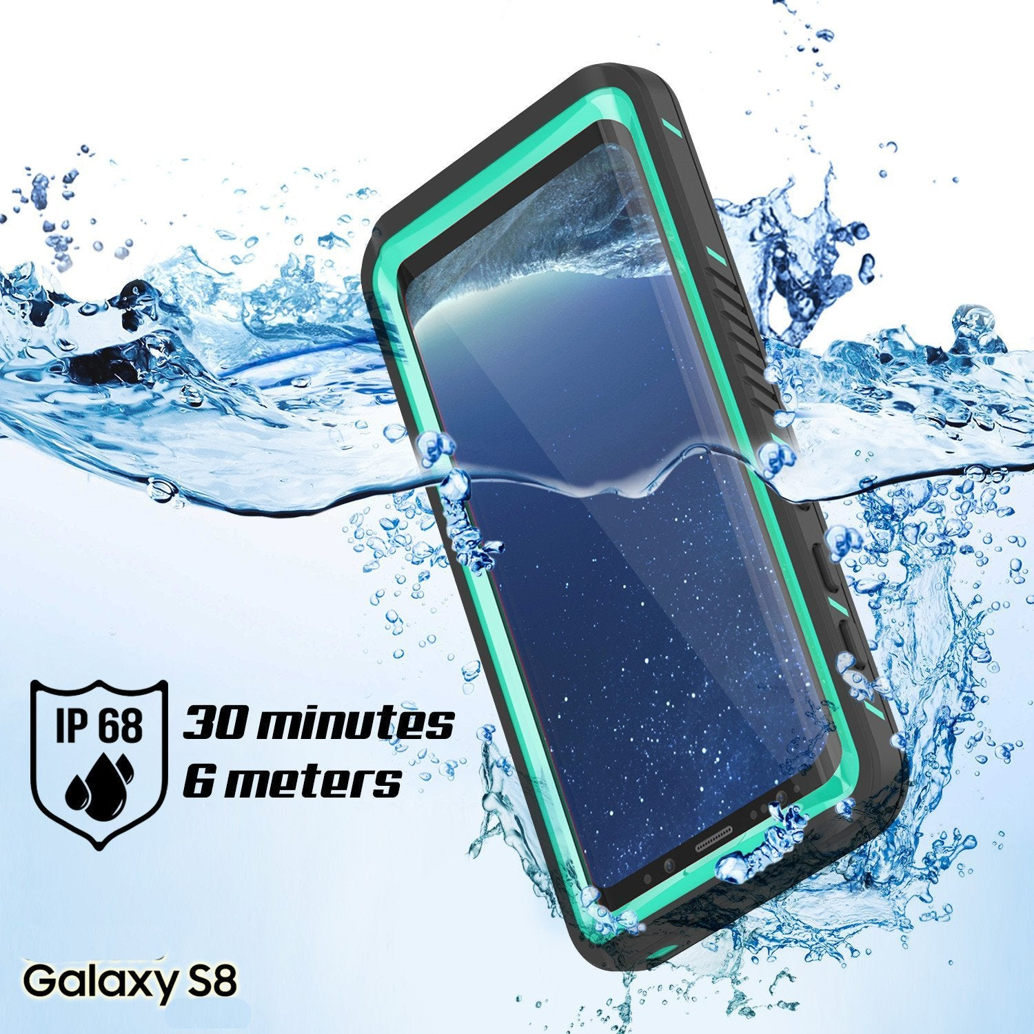 Galaxy S8 PLUS Waterproof Case, Punkcase [Extreme Series] Slim Fit, Armor Cover W/ Built In Screen Protector for Samsung Galaxy S8+ [Teal]