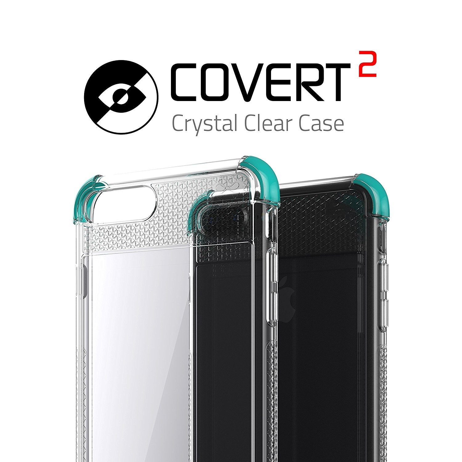 iPhone 7+ Plus Case, Ghostek Covert 2 Series for iPhone 7+ Plus Protective Case [ Teal]