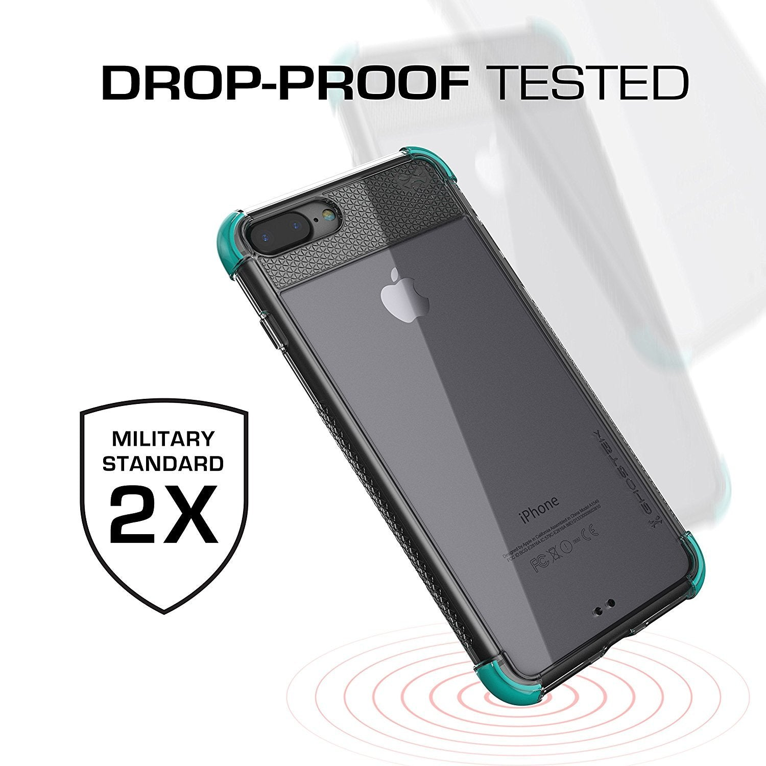 iPhone 8+ Plus Case, Ghostek Covert 2 Series for iPhone 8+ Plus Protective Case [ Teal]