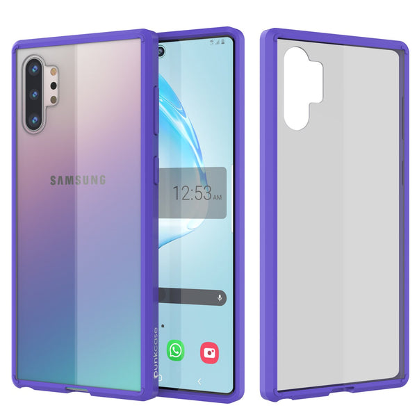 Galaxy Note 10+ Plus Punkcase Lucid-2.0 Series Slim Fit Armor Purple Case Cover
