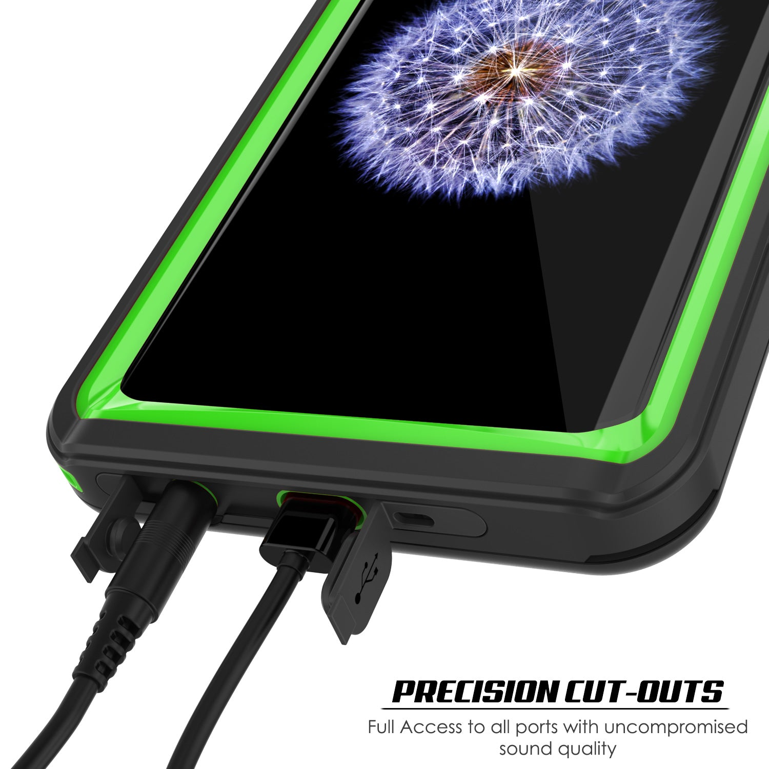 Punkcase Galaxy S9+ Plus Extreme Series Waterproof Body | Light Green