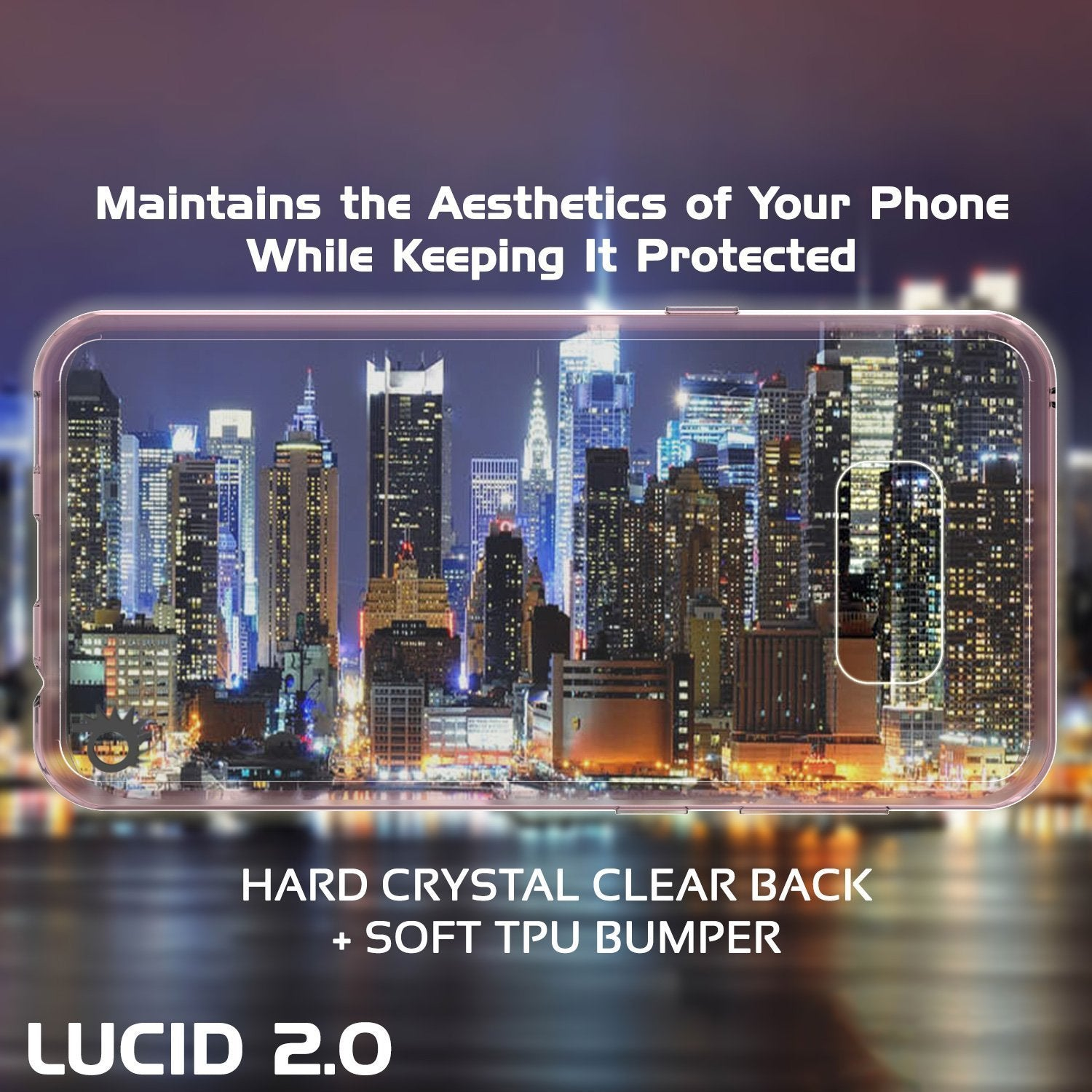 S8 Plus Case Punkcase® LUCID 2.0 Crystal Pink Series w/ PUNK SHIELD Screen Protector | Ultra Fit