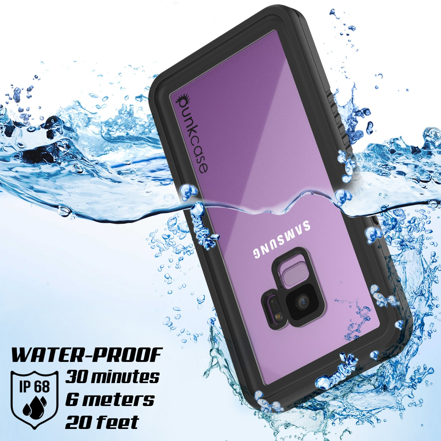 Punkcase Galaxy S9 Extreme Series Waterproof Body | Pink