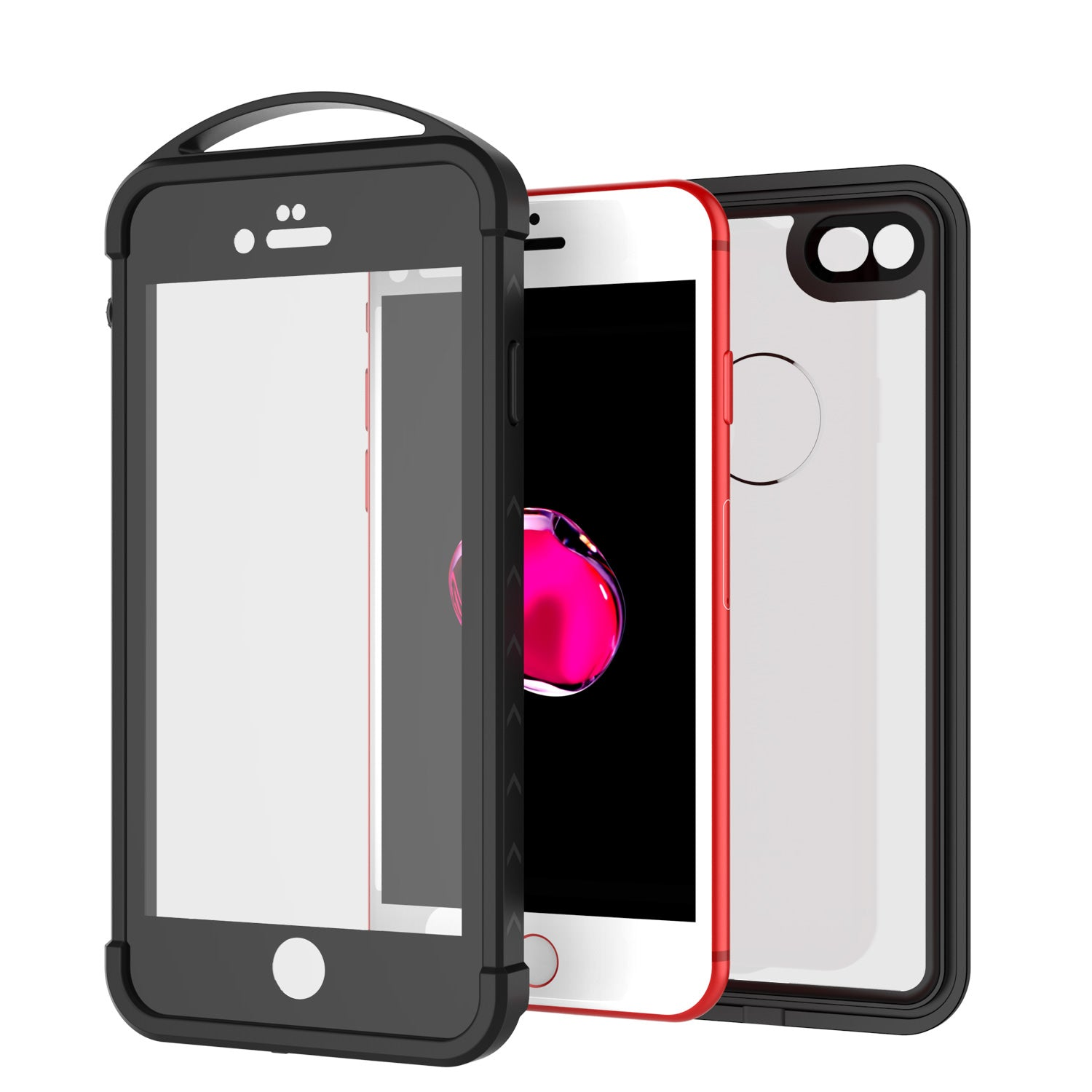 iPhone 7 Waterproof Case, Punkcase ALPINE Series, CLEAR | Heavy Duty Armor Cover