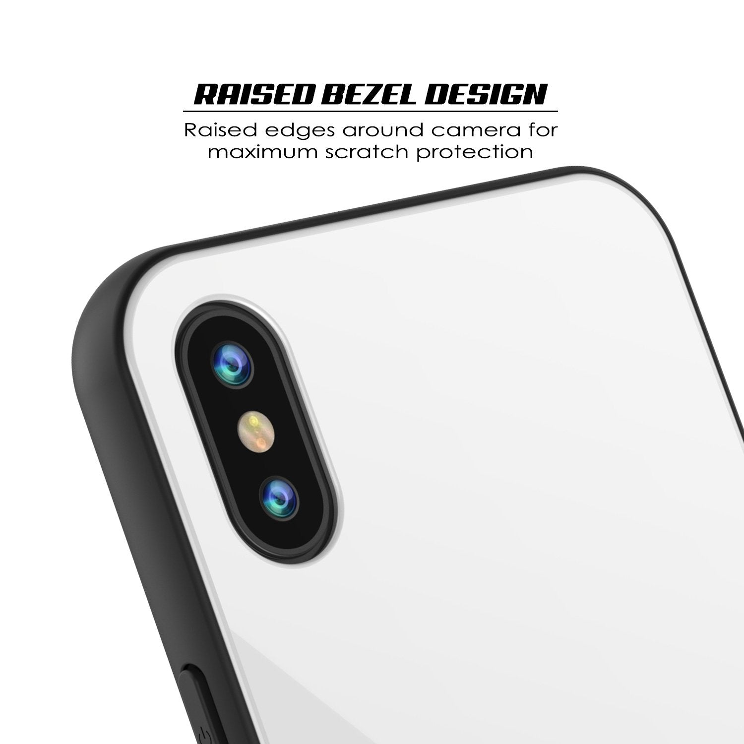 iPhone X Case, Punkcase GlassShield Ultra Thin Protective 9H Full Body Tempered Glass Cover W/ Drop Protection & Non Slip Grip for Apple iPhone 10 [White]