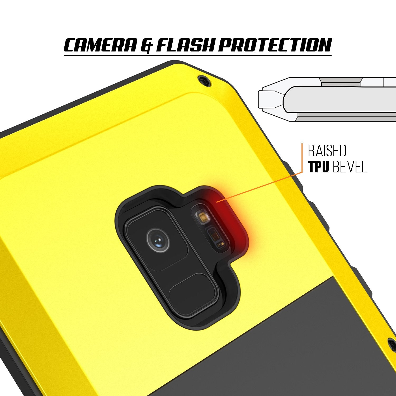 Galaxy S9 Metal Case, Heavy Duty Military Grade Rugged Armor Cover [shock proof] Hybrid Full Body Hard Aluminum & TPU Design [non slip] W/ Prime Drop Protection for Samsung Galaxy S9 [Neon]