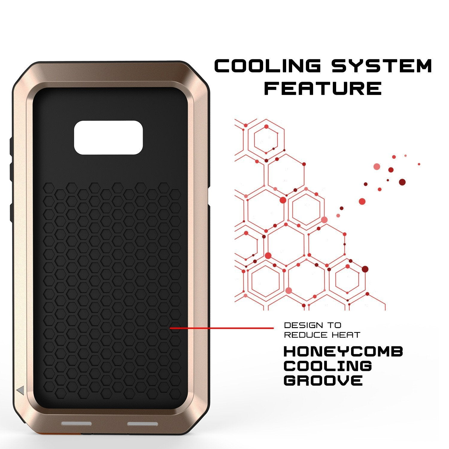 Galaxy Note 8  Case, PUNKcase Metallic Gold Shockproof  Slim Metal Armor Case