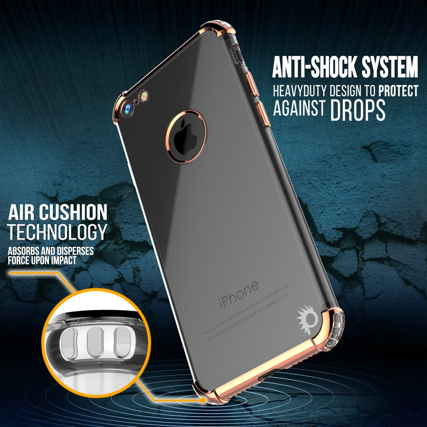 iPhone 8 Case, Punkcase [BLAZE ROSEGOLD SERIES] Protective Cover W/ PunkShield Screen Protector