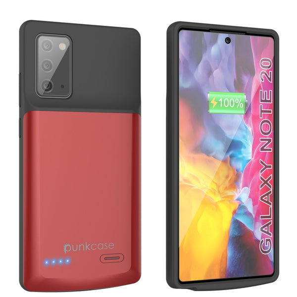 Galaxy Note 20 6000mAH Battery Charger Slim Case [Red]