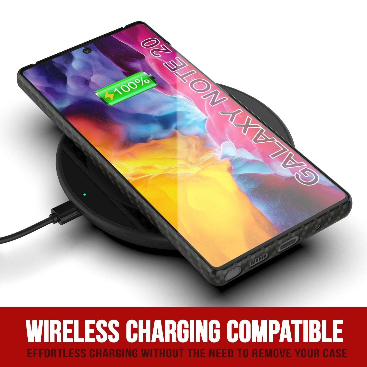 Galaxy Note 20 Case, Punkcase CarbonShield, Heavy Duty & Ultra Thin Cover