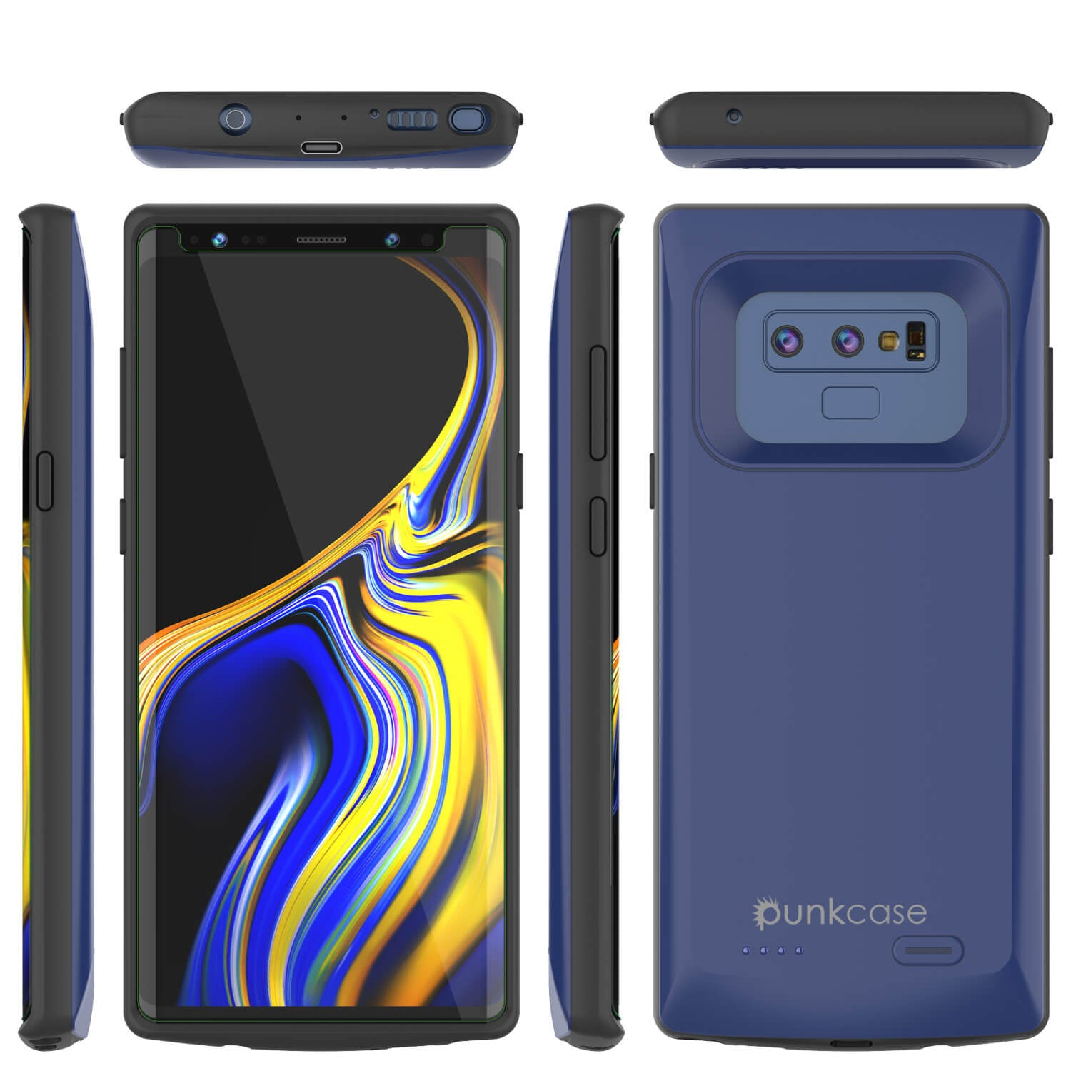 Galaxy Note 9 5000mAH Battery Charger W/ USB Port Slim Case [Navy]