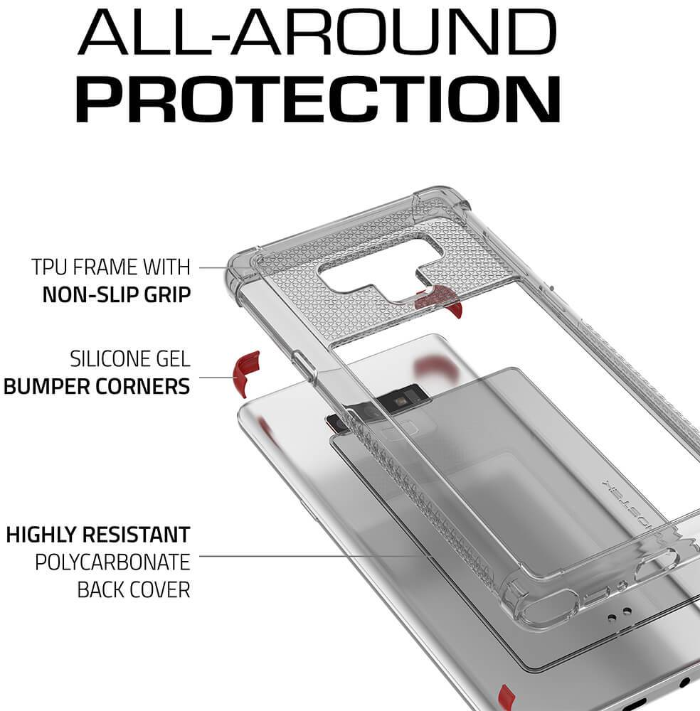 Galaxy Note 9 Case,Ghostek Covert 2 TPU Bumper Frame [Shockproof] | Red