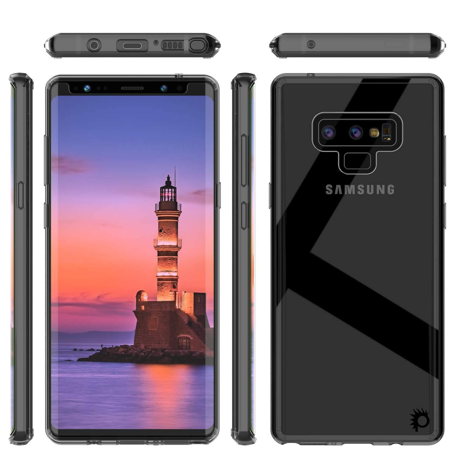 Galaxy Note 9 Case, PUNKcase [LUCID 2.0 Series] [Slim Fit] Armor Cover W/Integrated Anti-Shock System [Crystal Black]
