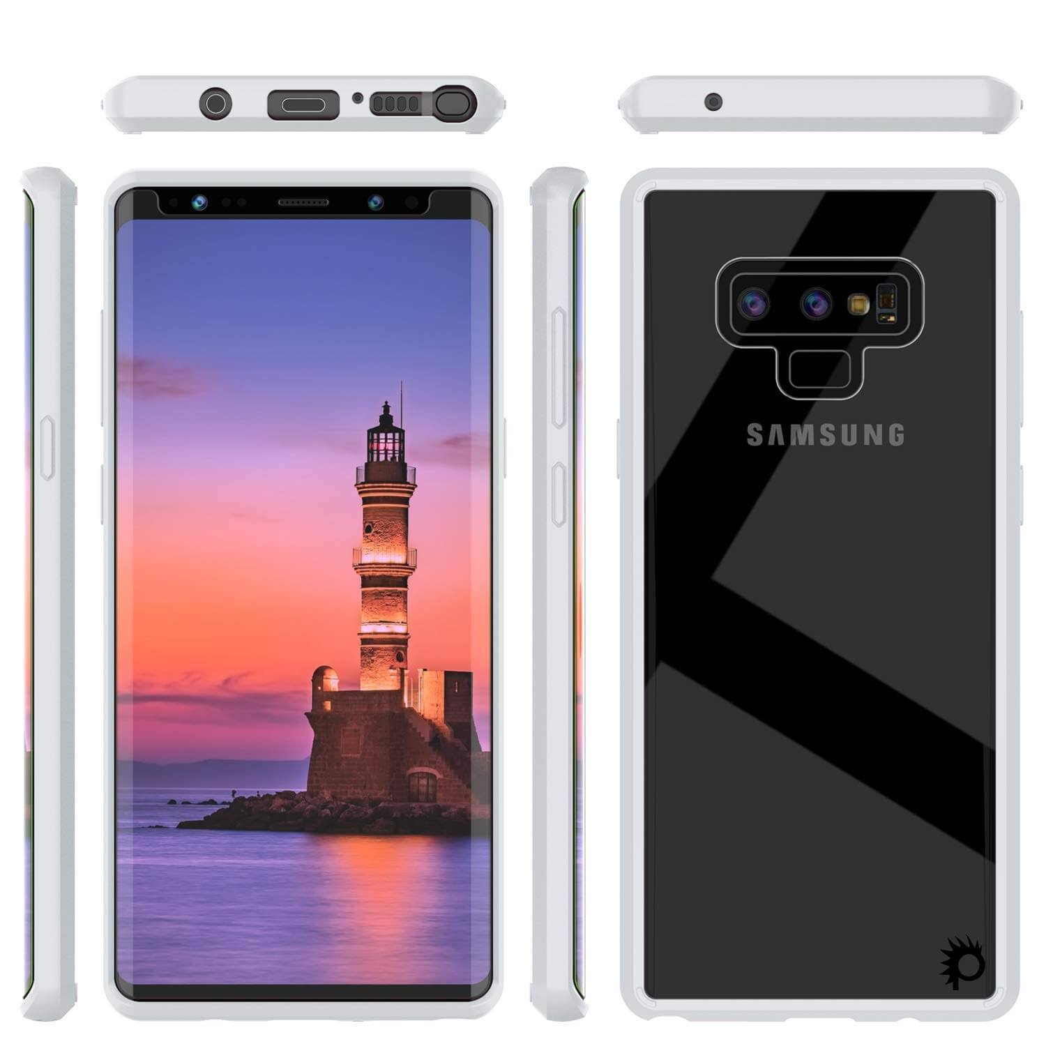 Galaxy Note 9 Case, PUNKcase [LUCID 2.0 Series] [Slim Fit] Armor Cover W/Integrated Anti-Shock System [White]