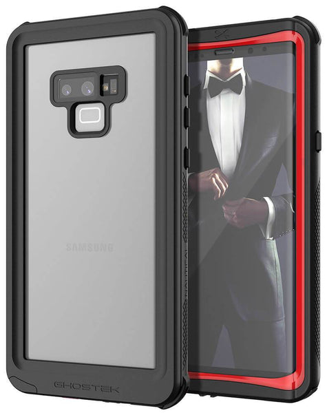 Galaxy Note 9, Ghostek Nautical Waterproof Case Full Body TPU Cover [Shockproof] | Red