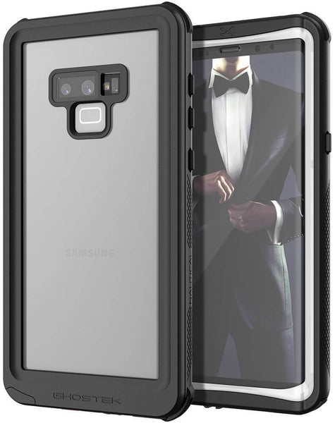 Galaxy Note 9, Ghostek Nautical Waterproof Case Full Body TPU Cover [Shockproof] | White