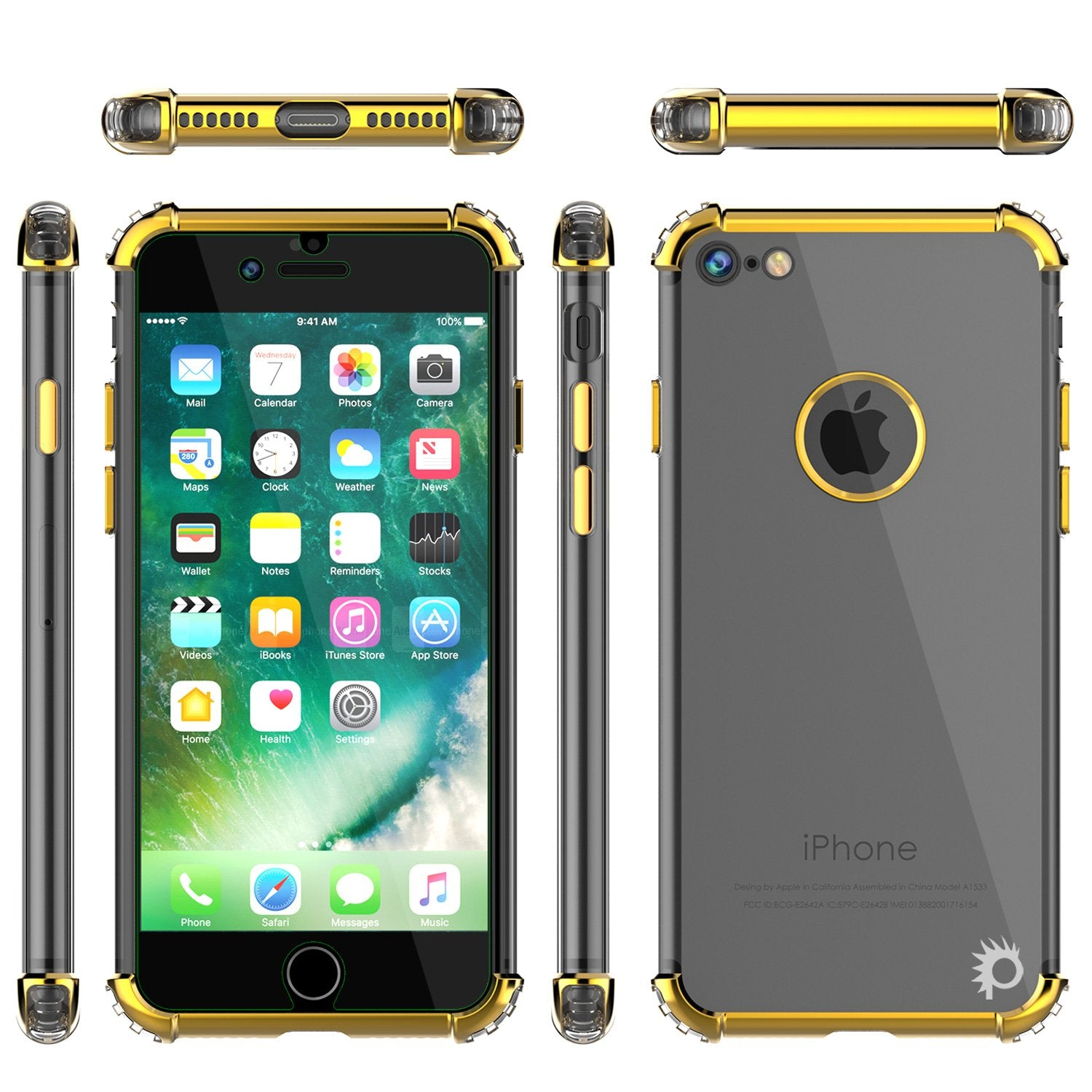iPhone 8 Case, Punkcase [BLAZE Gold SERIES] Protective Cover W/ PunkShield Screen Protector