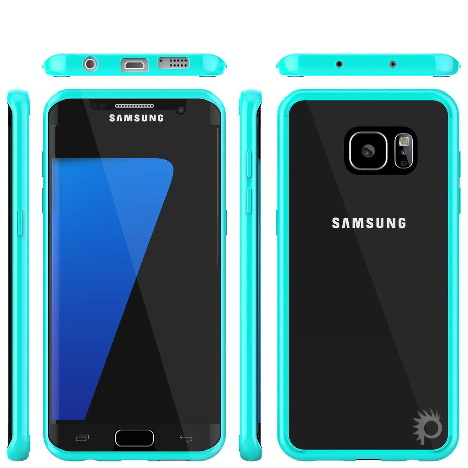 PUNKCASE - Lucid 2.0 Series Slick Frame Case for Samsung S7 Edge | Teal