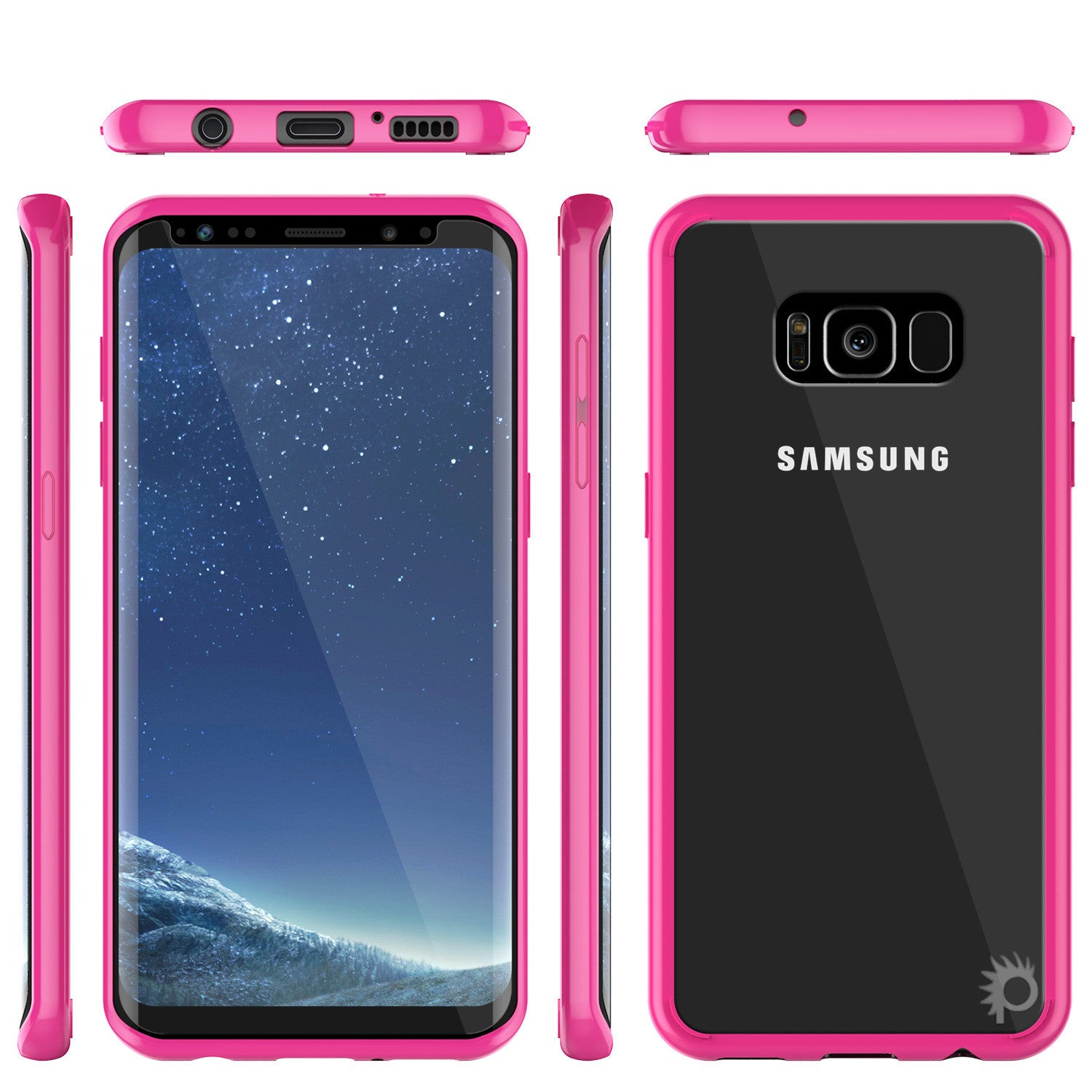 S8 Case Punkcase® LUCID 2.0 Pink Series w/ PUNK SHIELD Screen Protector | Ultra Fit