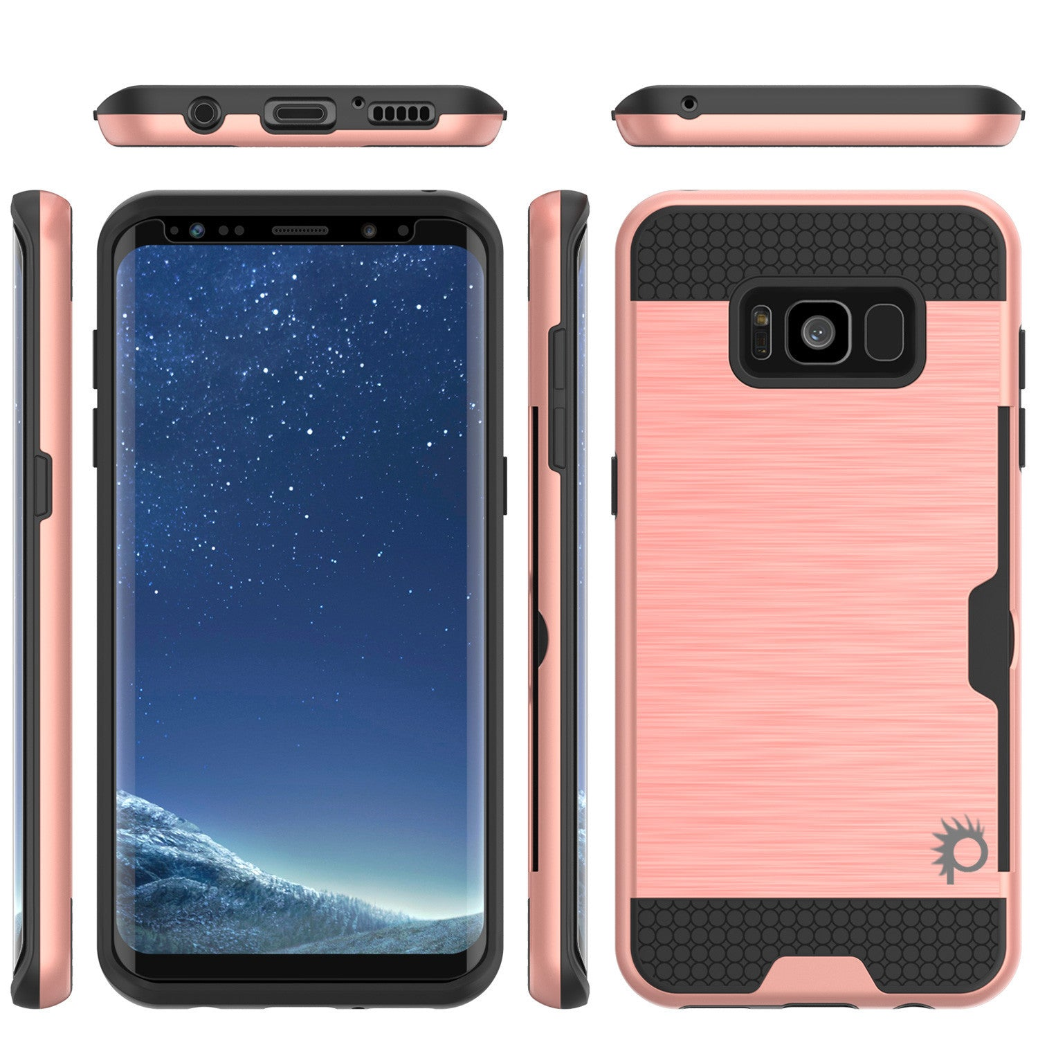 Galaxy S8 Case PunkCase SLOT Rose Series Slim Armor Soft Cover Case