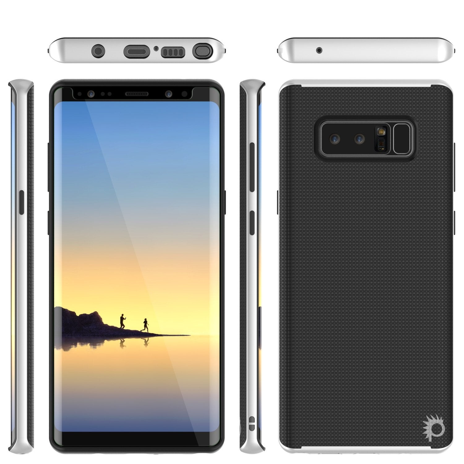Galaxy Note 8 Case, PunkCase Stealth White Series Hybrid 3-Piece Shockproof Dual Layer Cover