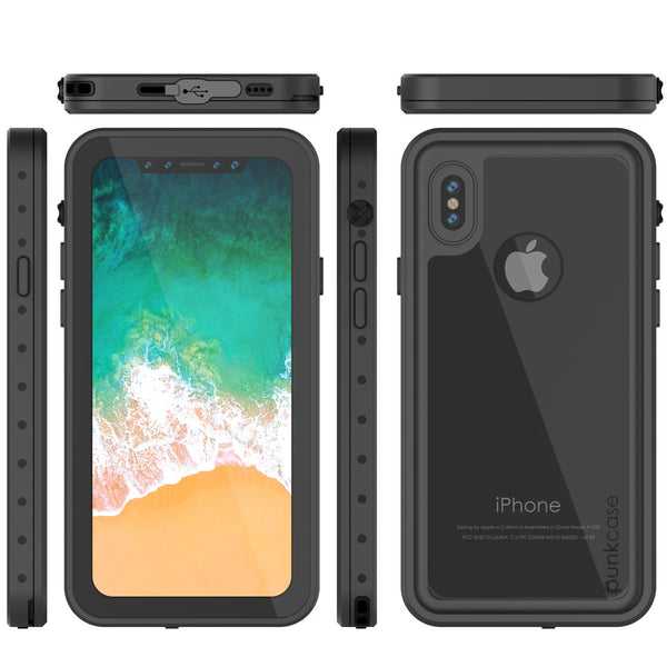 iPhone X Waterproof IP68 Case, Punkcase [Clear] [StudStar Series] [Slim Fit] [Dirtproof]