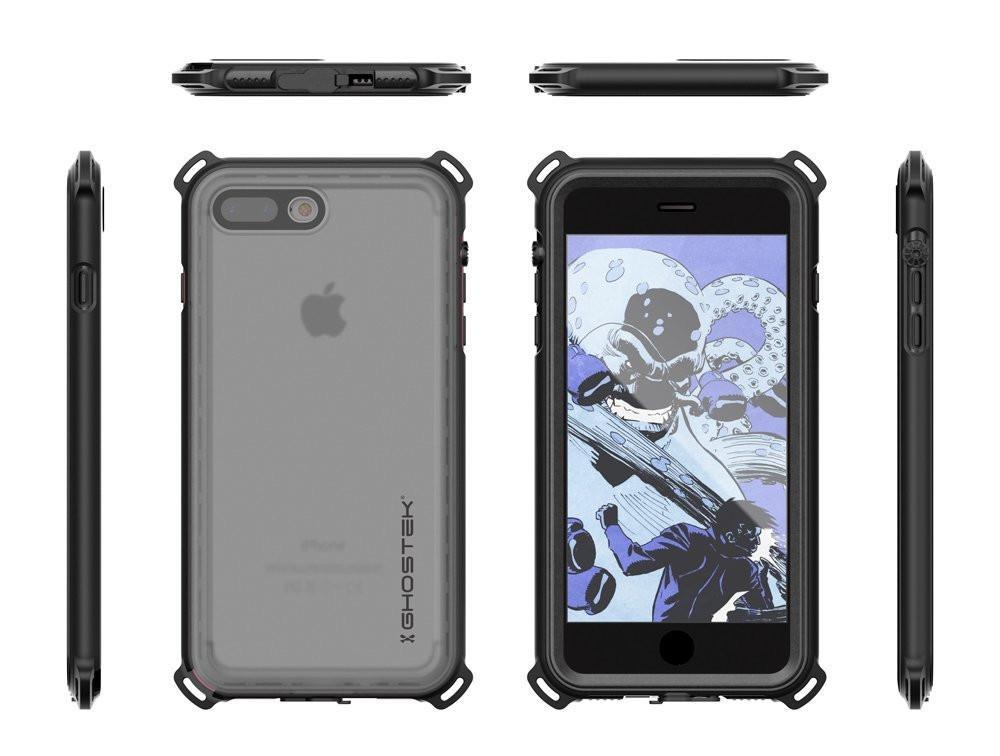 iPhone 8+ Plus Waterproof Case, Ghostek Nautical Series for iPhone 8+ Plus | Slim Underwater Protection | Adventure Duty | Swimming (Black)