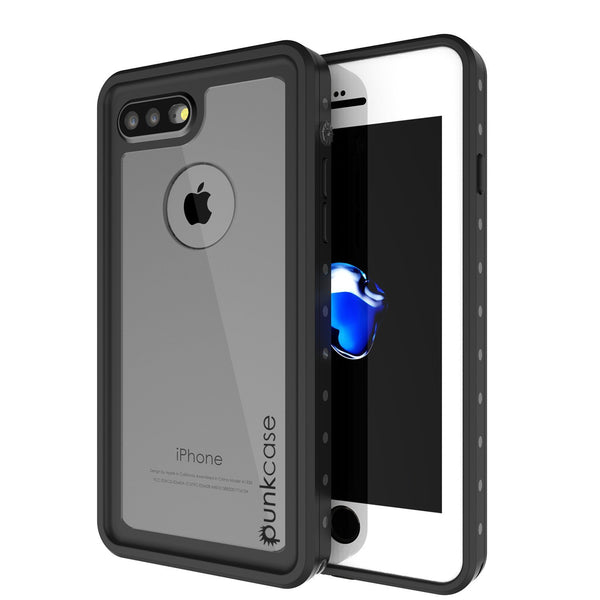 iPhone 8+ Plus Waterproof Case, Punkcase [StudStar Series] [Clear] [Slim Fit] [IP68 Certified] [Shockproof] [Dirtproof] [Snowproof] Armor Cover for Apple iPhone 8+ Plus