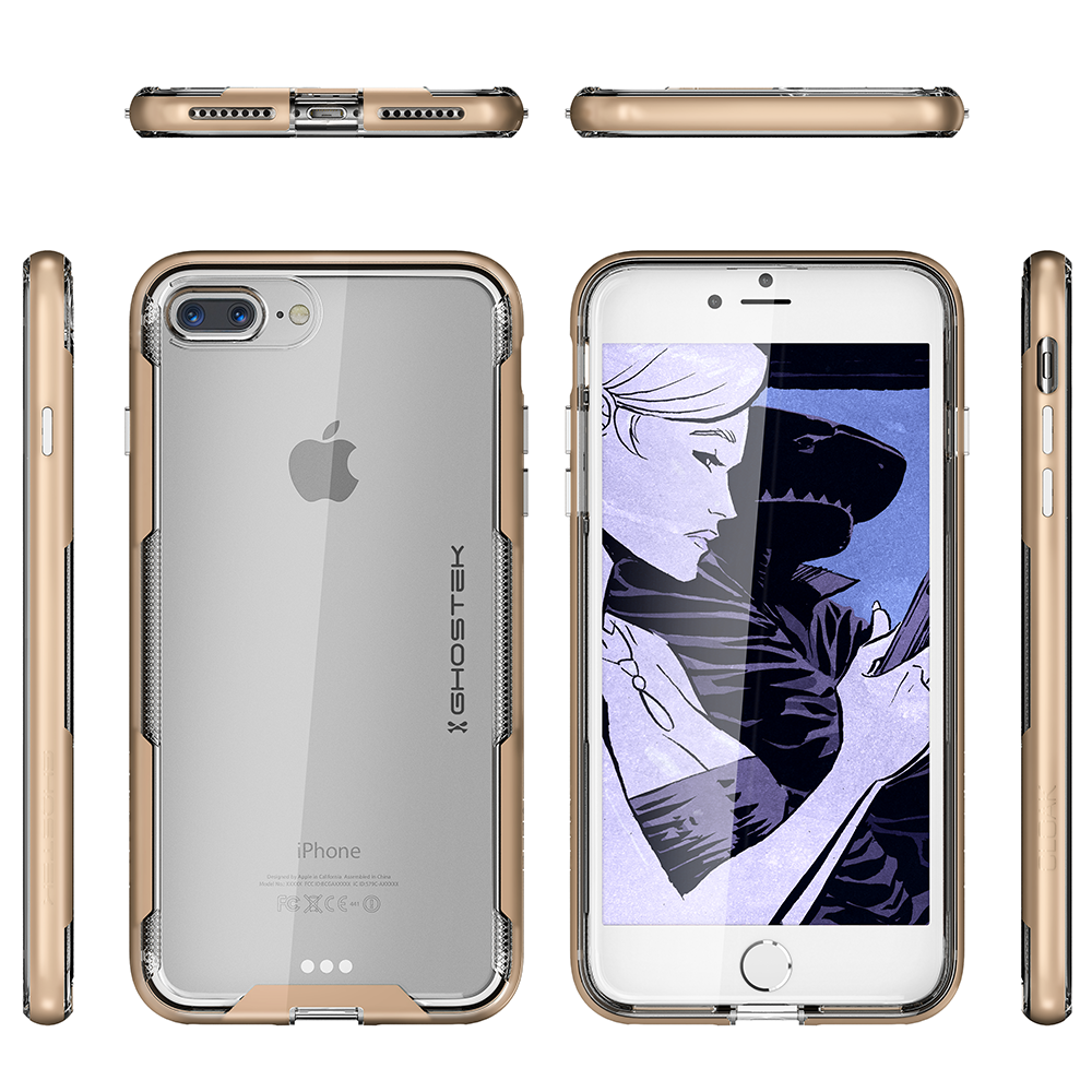 iPhone 7+ Plus Case,Ghostek Cloak 3 Series  for iPhone 7+ Plus  Case [GOLD]