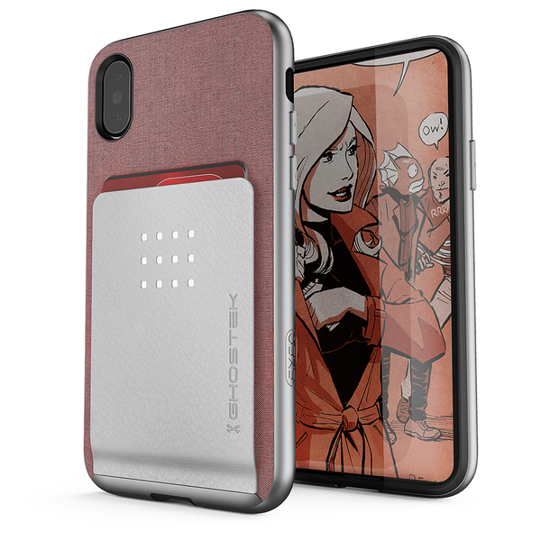 iPhone 8+ Plus Case, Ghostek Exec 2 Series for  iPhone 8+ Plus Protective Wallet Case [ROSE PINK]
