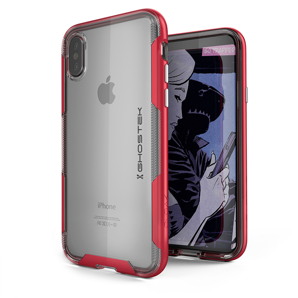 Ghostek Ultra Slim iPhone X Case with Bumper Cushion Technology and Hybrid Drop Protection for Apple iPhone X 10 (2017) | Red