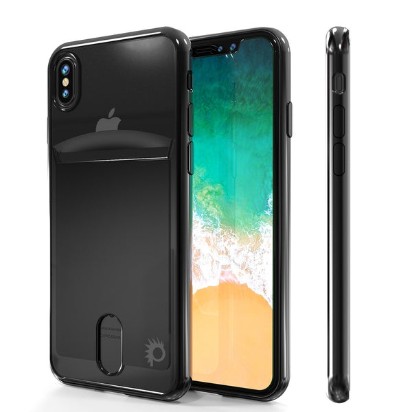Punkcase iPhone X LUCID Series Dual Layer Armor Cover | Black