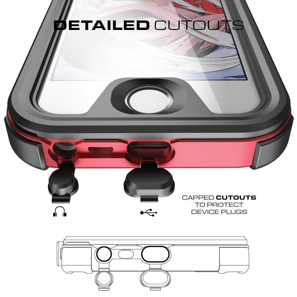 GHOSTEK - Atomic 3.0 Series Waterproof Case for Apple IPhone 7 | Red