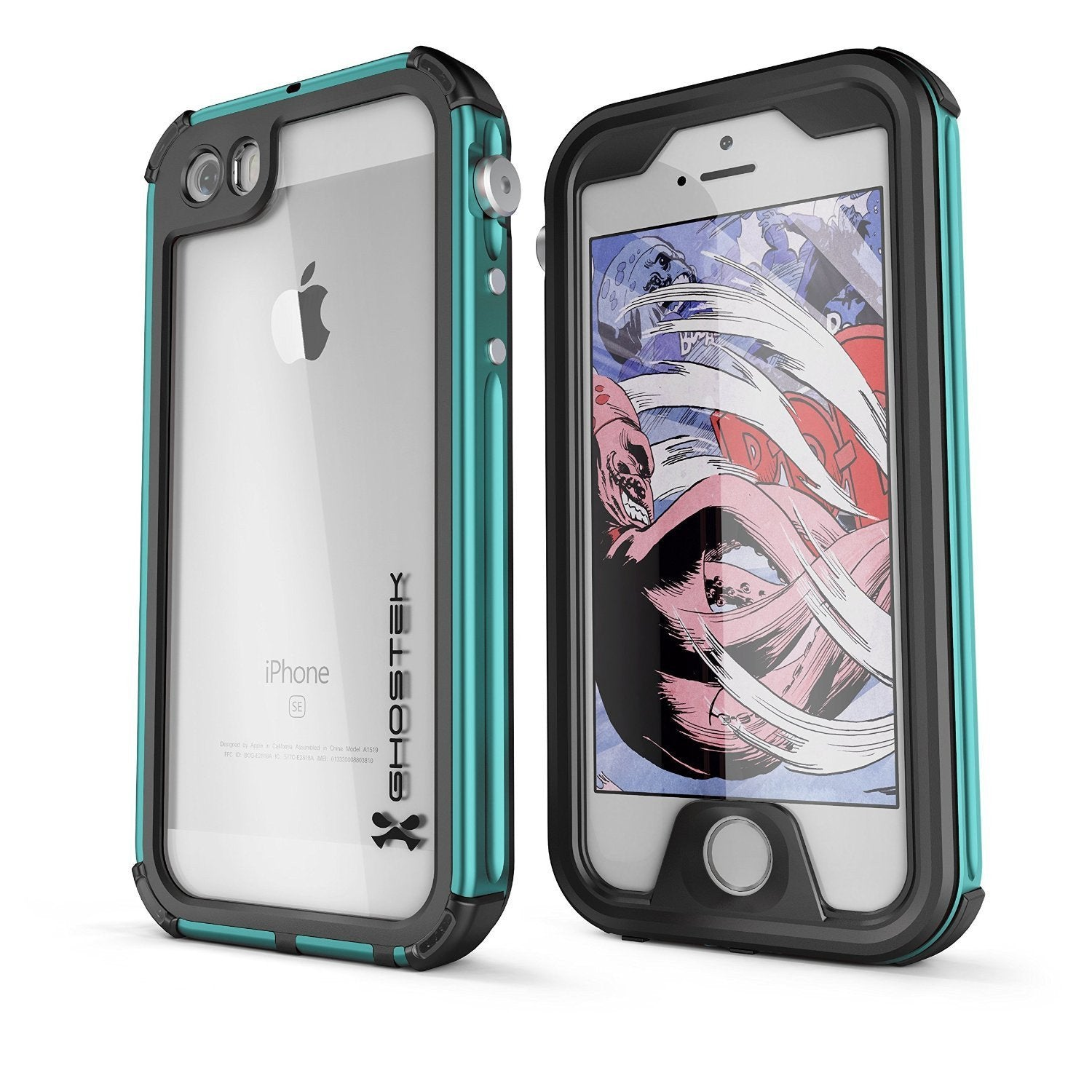 iPhone 8 Waterproof Case, Ghostek® Atomic 3.0 Teal Series
