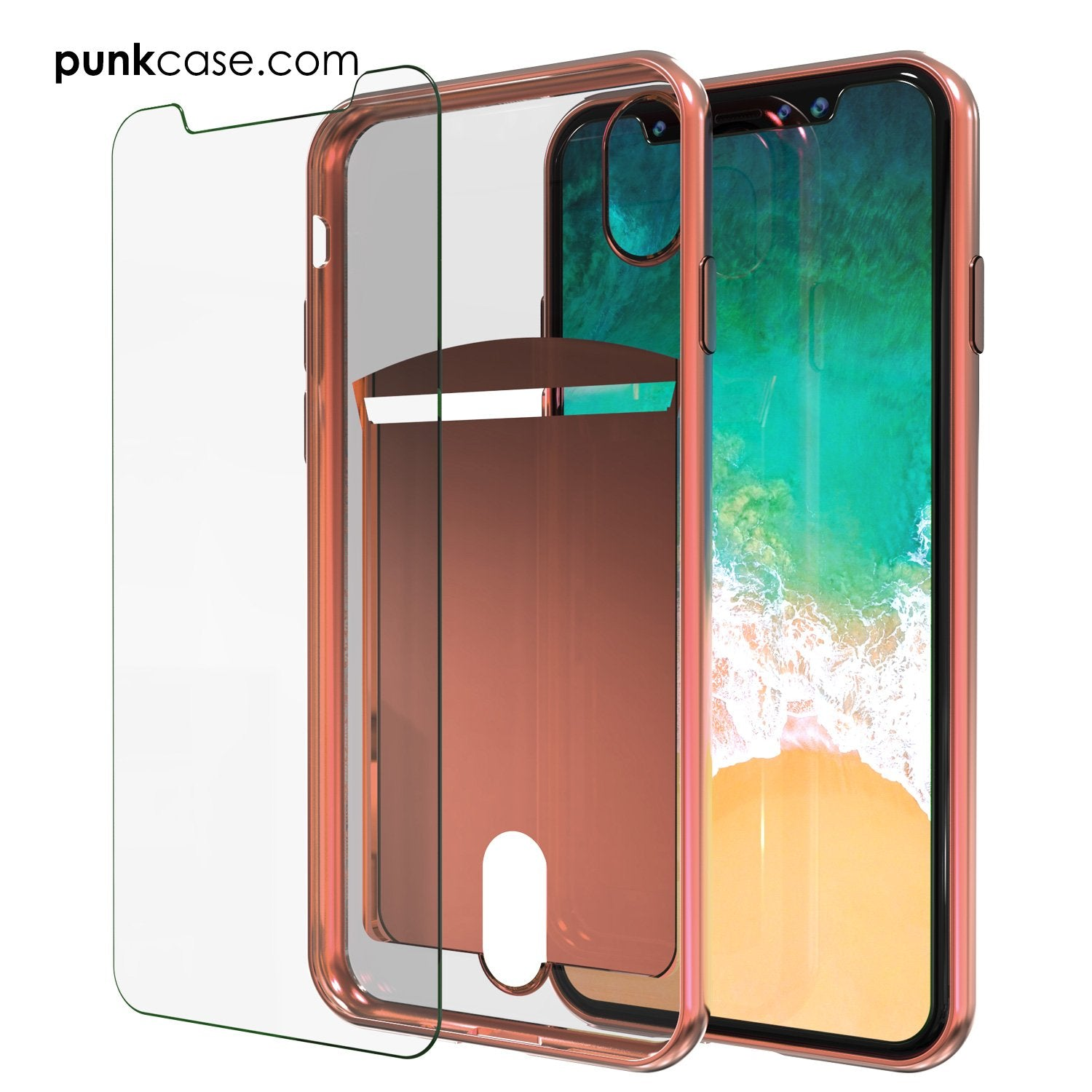 Punkcase iPhone X LUCID Series Dual Layer Armor Cover | Rose Pink