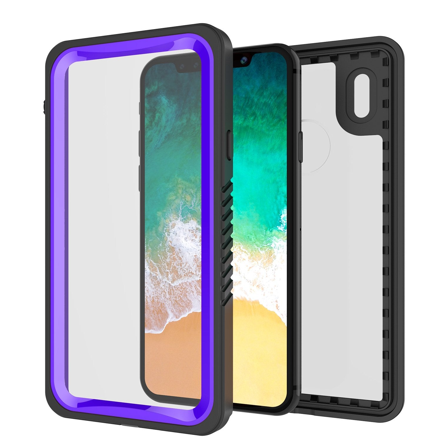 iPhone X Case, Punkcase [Extreme Series] [Slim Fit] [IP68 Certified] [Shockproof] [Snowproof] [Dirproof] Armor Cover W/ Built In Screen Protector for Apple iPhone 10 [PURPLE]
