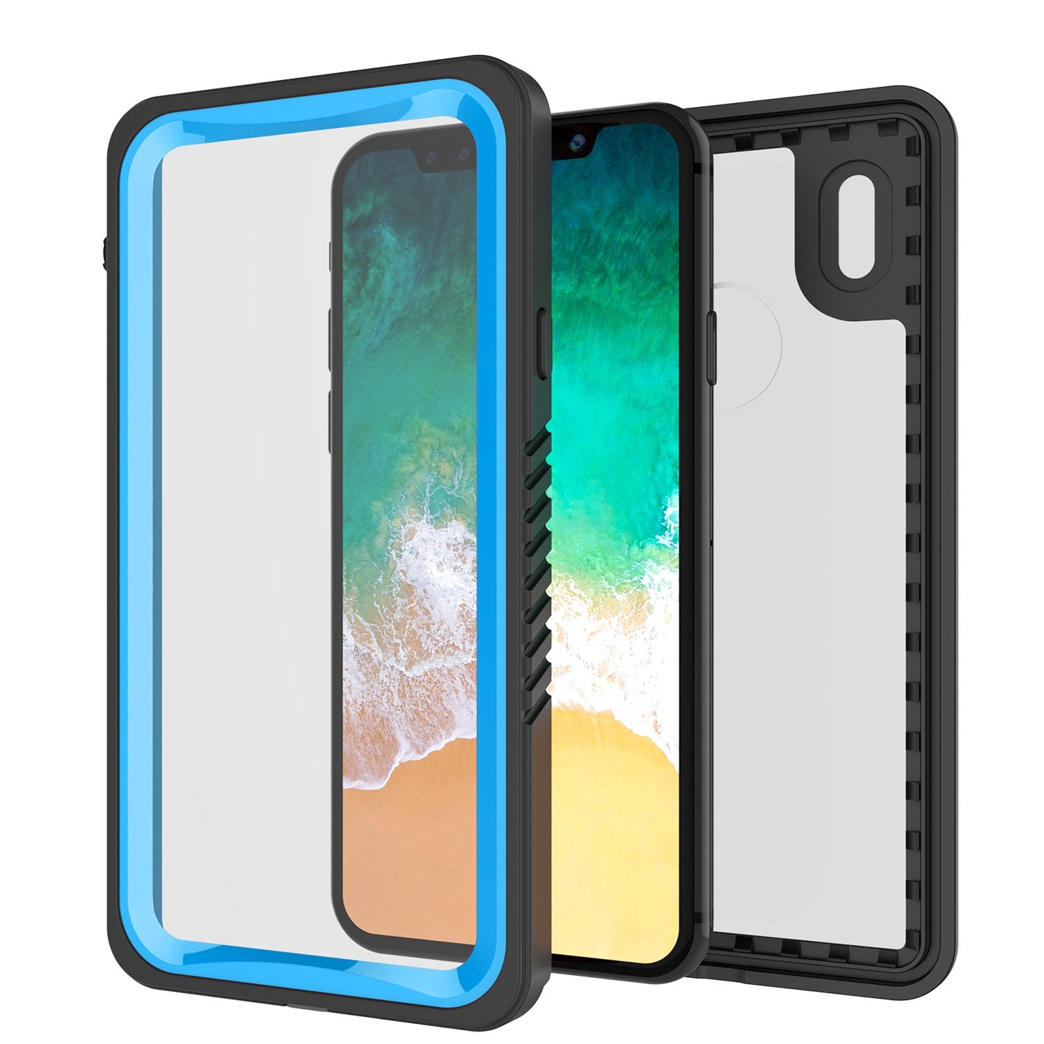 iPhone X Case, Punkcase [Extreme Series] [Slim Fit] [IP68 Certified] [Shockproof] [Snowproof] [Dirproof] Armor Cover W/ Built In Screen Protector for Apple iPhone 10 [LIGHT BLUE]