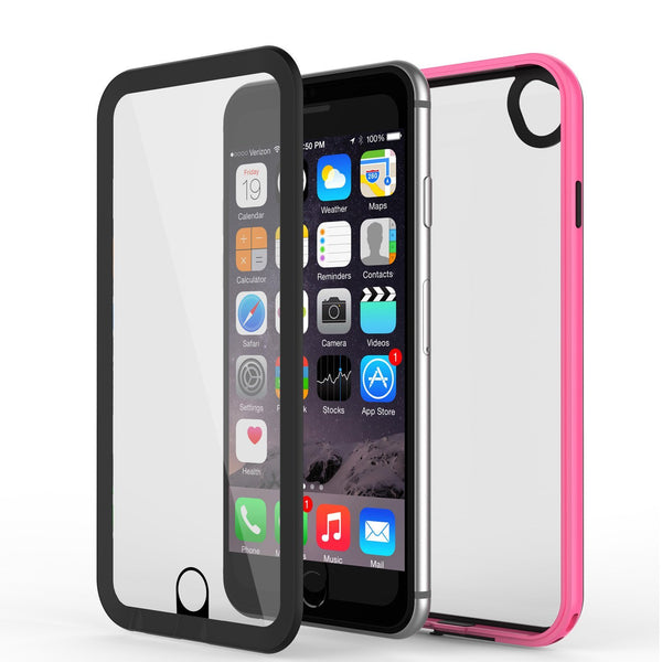 Apple iPhone 8 Waterproof Case, PUNKcase CRYSTAL 2.0 Pink W/ Attached Screen Protector  | Warranty