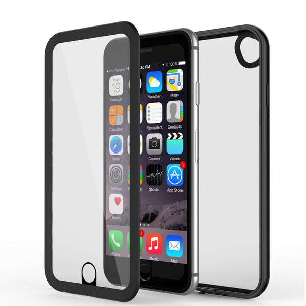 Apple iPhone 8 Waterproof Case, PUNKcase CRYSTAL 2.0 Black W/ Attached Screen Protector  | Warranty
