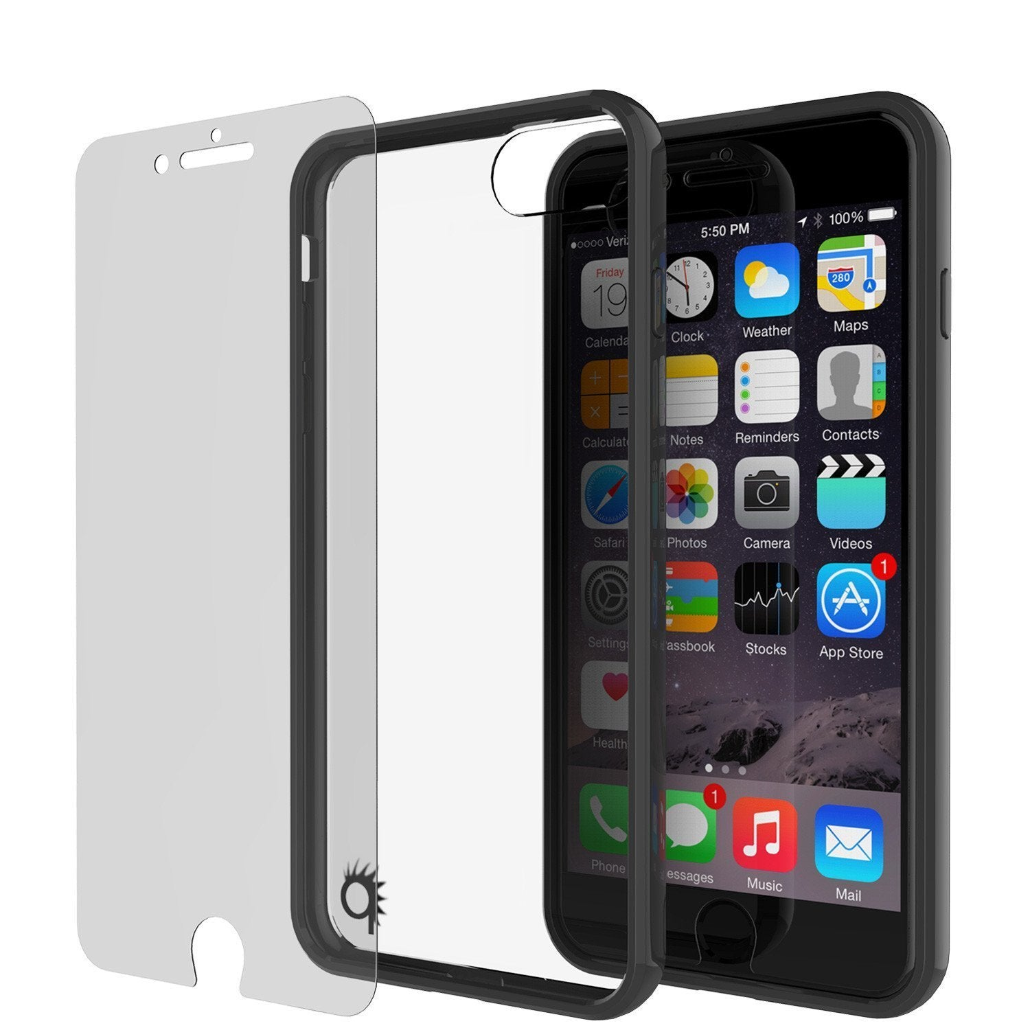 iPhone 8+ Plus Case Punkcase® LUCID 2.0 Black Series w/ PUNK SHIELD Screen Protector | Ultra Fit