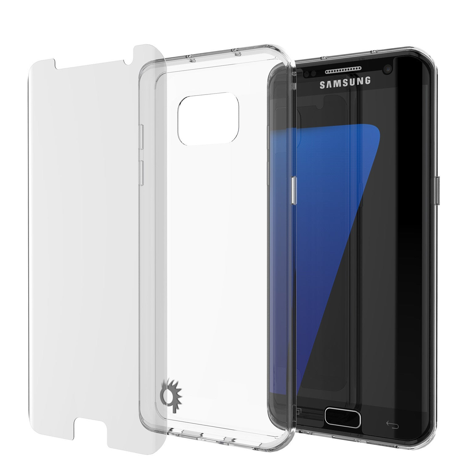 PUNKCASE - Lucid 2.0 Series Slick Frame Case for Samsung S7 Edge |Clear