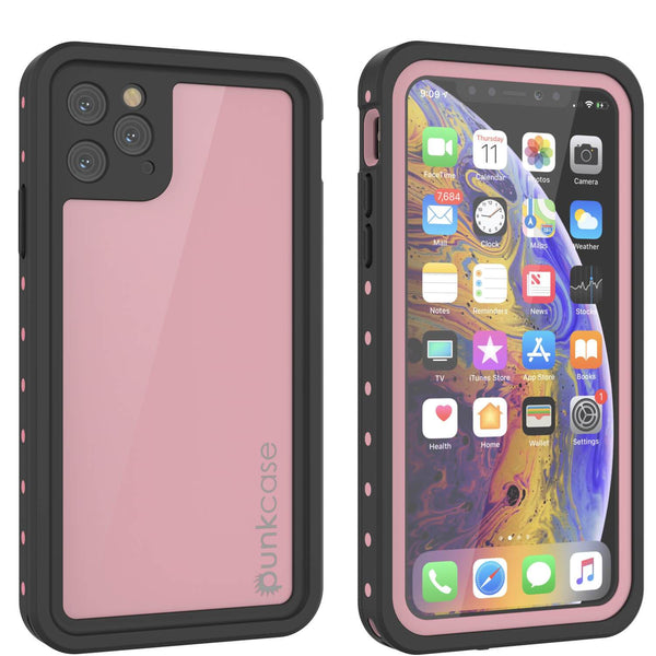 iPhone 11 Pro Waterproof IP68 Case, Punkcase [Pink] [StudStar Series] [Slim Fit] [Dirtproof]
