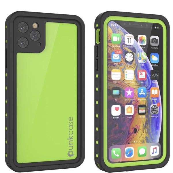 iPhone 11 Pro Waterproof IP68 Case, Punkcase [Light green] [StudStar Series] [Slim Fit] [Dirtproof]