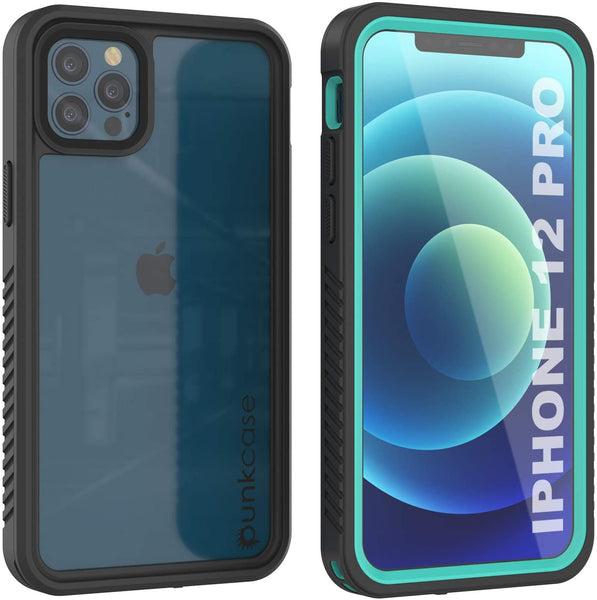 iPhone 12 Pro Waterproof Case, Punkcase [Extreme Series] Armor Cover W/ Built In Screen Protector [Teal]