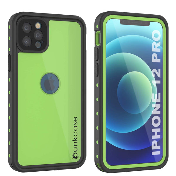 iPhone 12 Pro Waterproof IP68 Case, Punkcase [Light green] [StudStar Series] [Slim Fit] [Dirtproof]