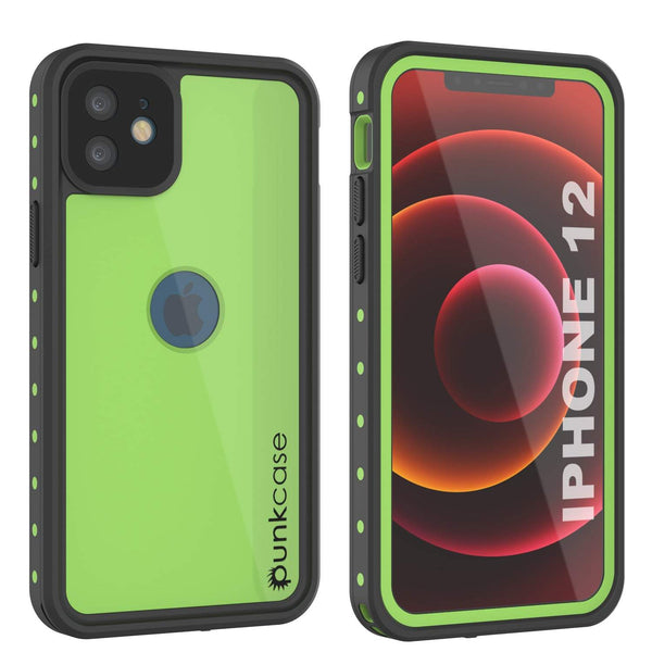 iPhone 12 Waterproof IP68 Case, Punkcase [Light green] [StudStar Series] [Slim Fit] [Dirtproof]