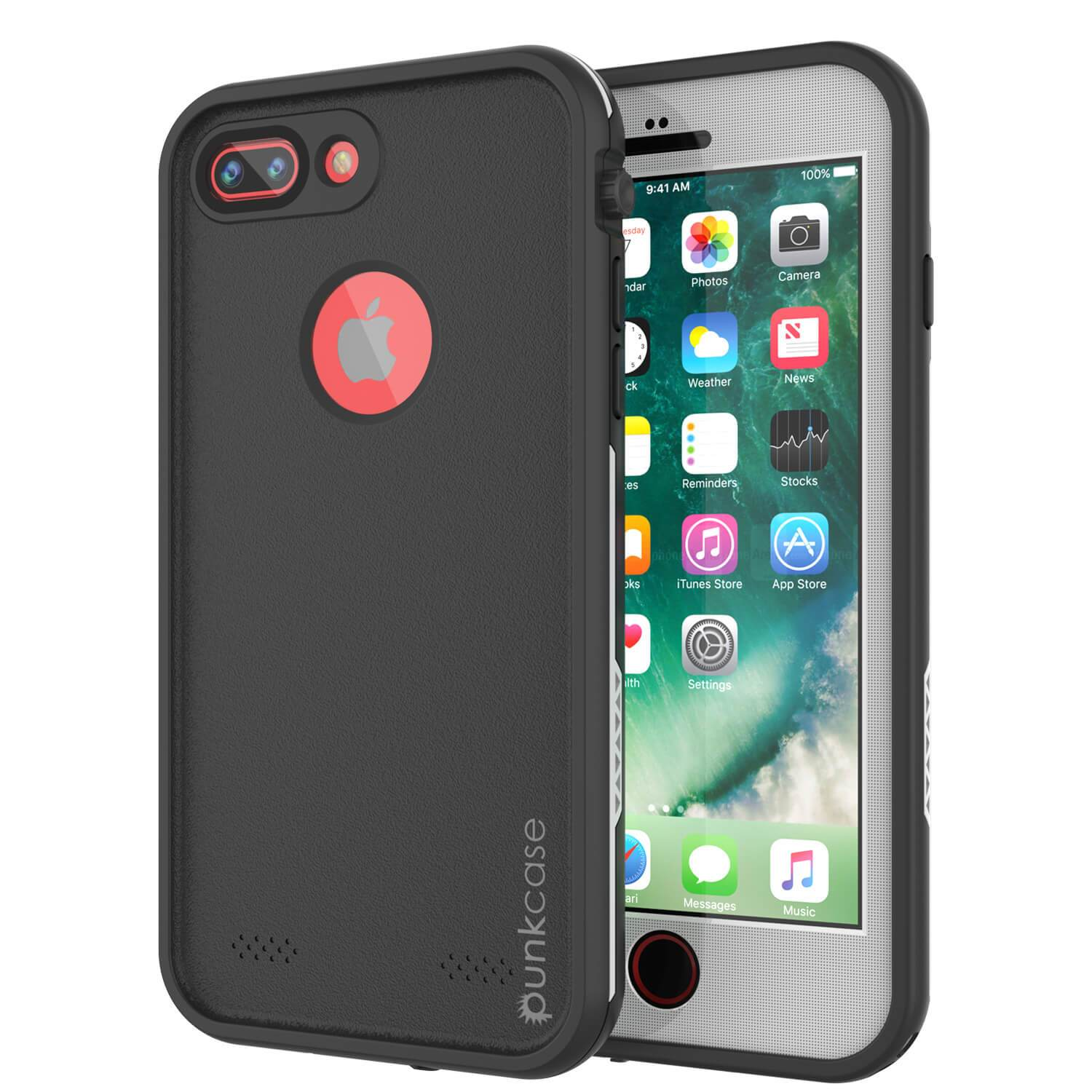 iPhone 7+ Plus Waterproof Case, Punkcase SpikeStar White Series | Thin Fit 6.6ft Underwater IP68