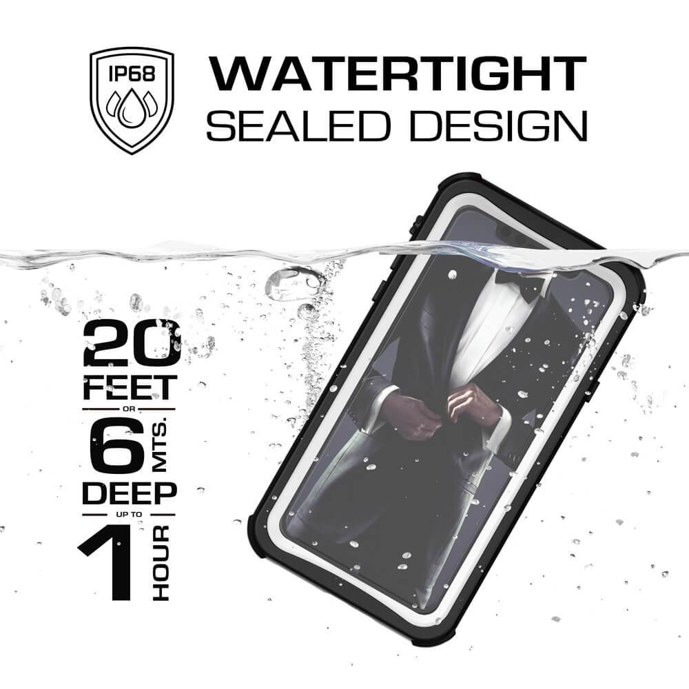 iPhone Xr  Case ,Ghostek Nautical Series  for iPhone Xr Rugged Heavy Duty Case | WHITE